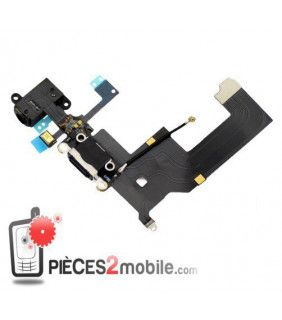 flexo de carga, ensamblada Apple iPhone 5 Negro