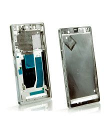 Chassis central avec bouton volume power Sony Xperia Z C6603 blanc